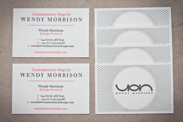 Wendy morrison logo and business card design on behance traditional letterpress printing on thick premium stock was chosen for wendys business cards and other stationery items both to reflect her products colourmoves Images