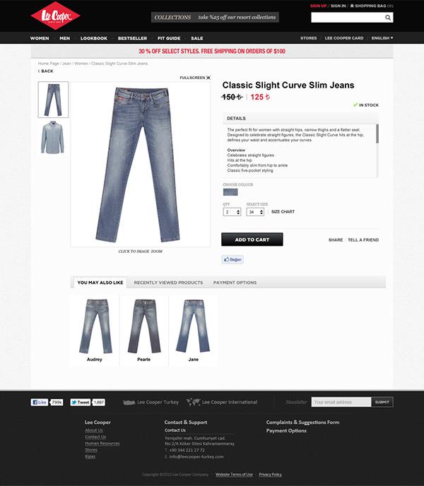 lee cooper,Denim,jeans,online shopping