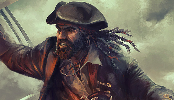 pirates digital painting