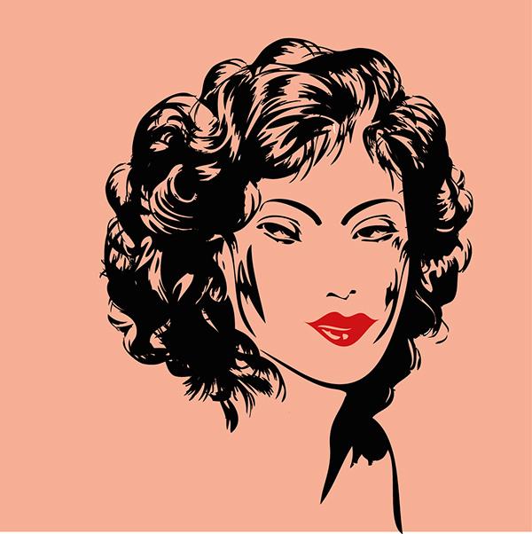 Pinup Girls Face Vector Art On Behance