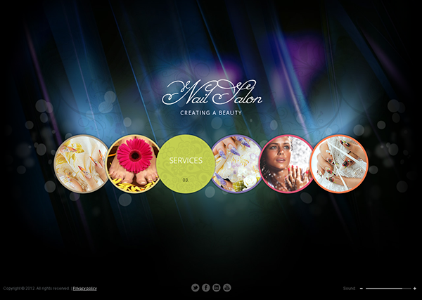 nail salon creating beauty html5 template on behance
