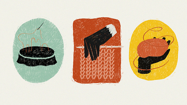 Yarn store illustrations