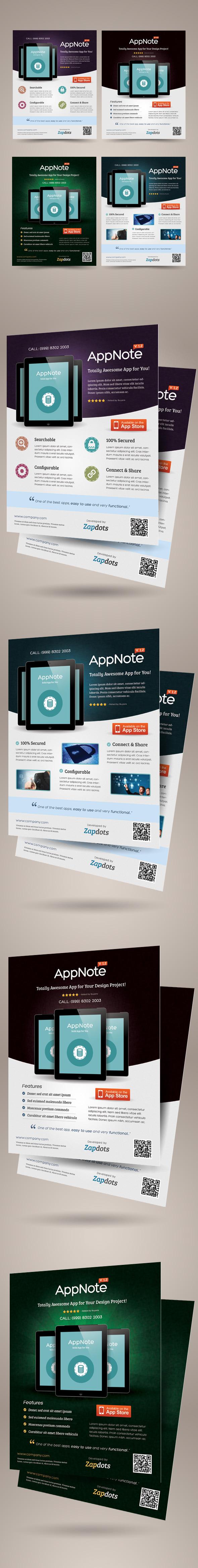 mobile app promotion flyers on behance