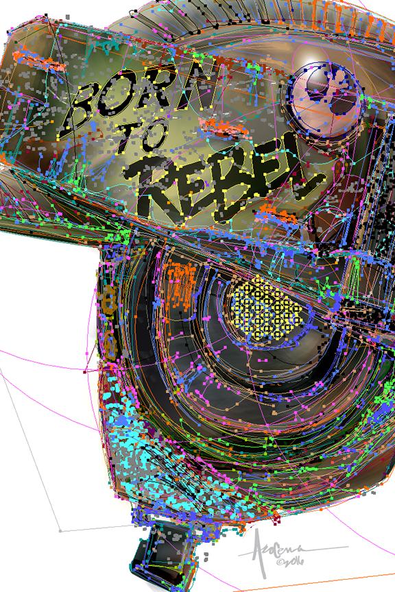 vector Illustrator move poster star wars rogue one full metal jacket Stanely Kubrick Parody military helmet