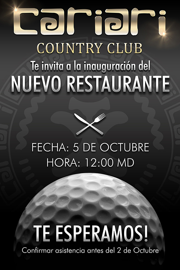 Cariari Country Club golf course restaurant openning