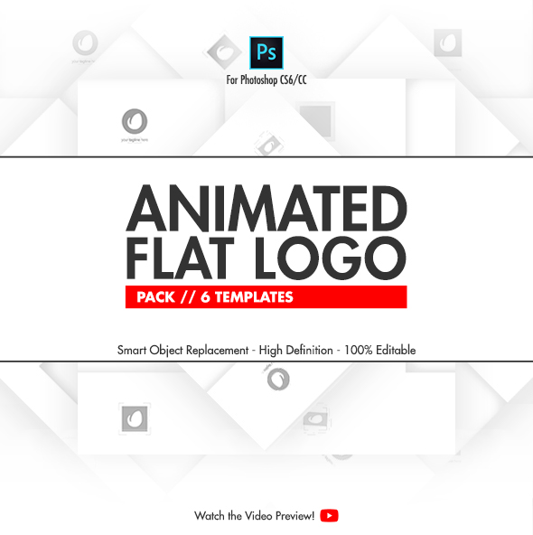Animated Flat Logo Pack Photoshop Templates On Behance
