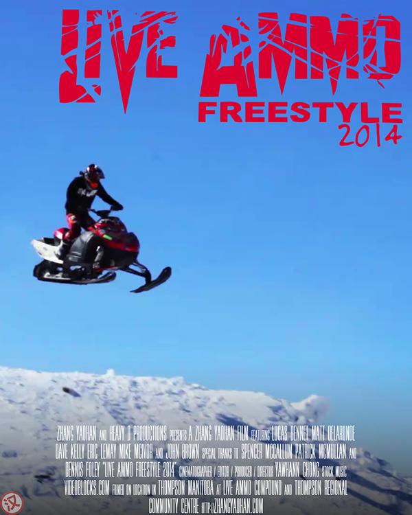 Live Ammo Freestyle Live Event extreme sport winter sport thompson manitoba Canada