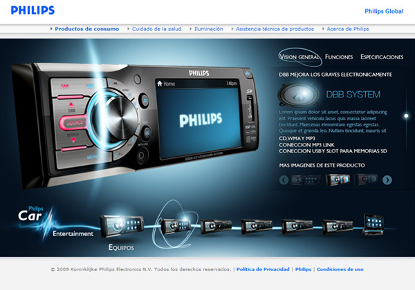 Philips car entertainment on behance - Colorin simulador ...