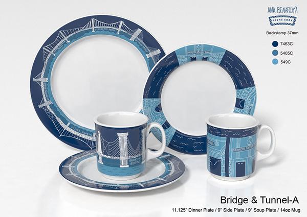 & Fishs Eddy Bridge \u0026 Tunnel Set on Behance