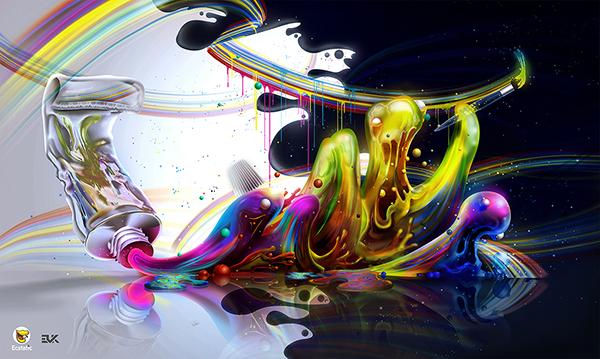 Acrylic. Acrylic paint tube.