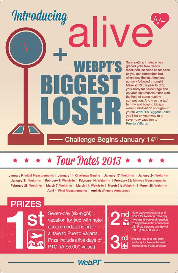 WebPT Employee Fitness Challenge Flyer on Behance