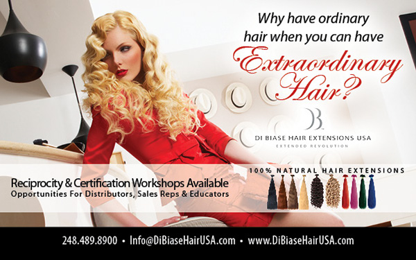 Di Biase Hair Extensions USA - Beauty Trade Ads on Behance