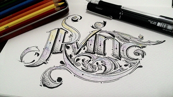 Selfie - calligraphy