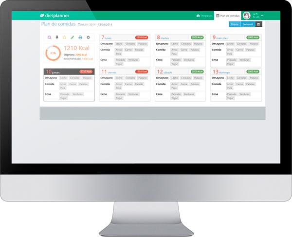 web app app diet plan