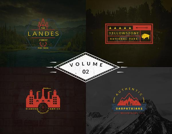 vintage logo templates vol 2 on behance