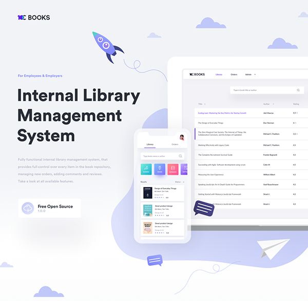 10C Books - Free Internal Library for Your Company
