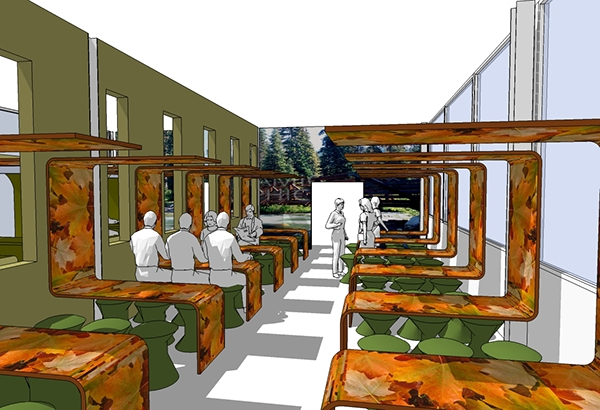 Canteen design concept images for Mirage interior exterior design concepts