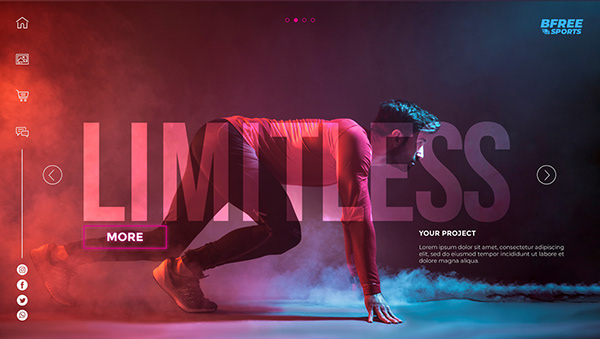 Sports and tech web banner