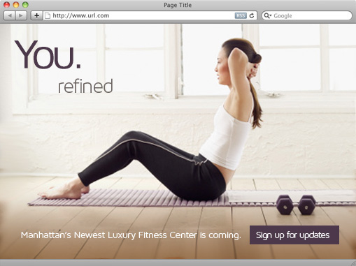 fitness landing page Web Design
