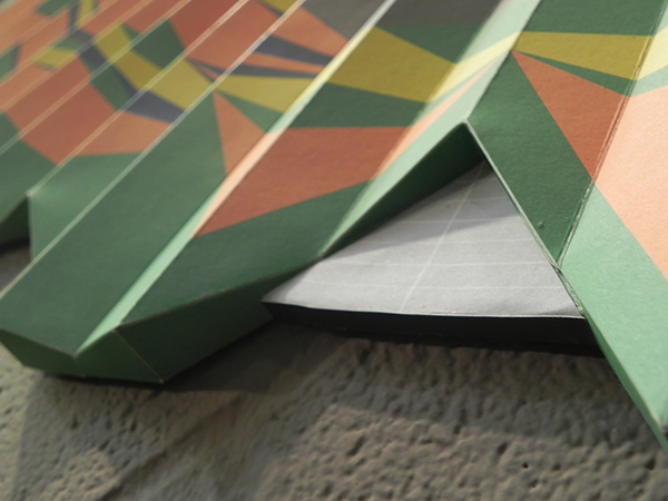 data visualization contructed 3D folded paper
