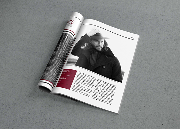 magazine Layout Front Cover InDesign commercial photoshoot print brochure model