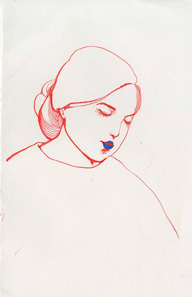 watercolor,portrait
