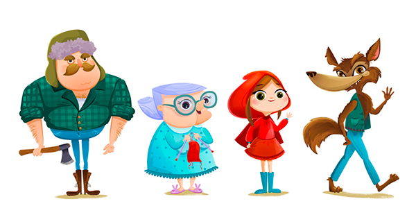 Image result for little red riding hood characters