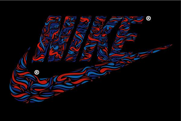 art graphic digital Nike artblog Swoosh shoes sneakers tshirt tee design brand popular nikeiar
