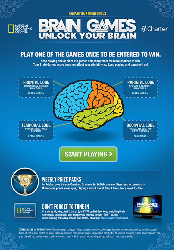 Facebook App for National Geographic's Brain Games on Behance