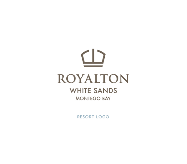 Royalton luxury resort concept branding on pantone for Luxury hotel logo