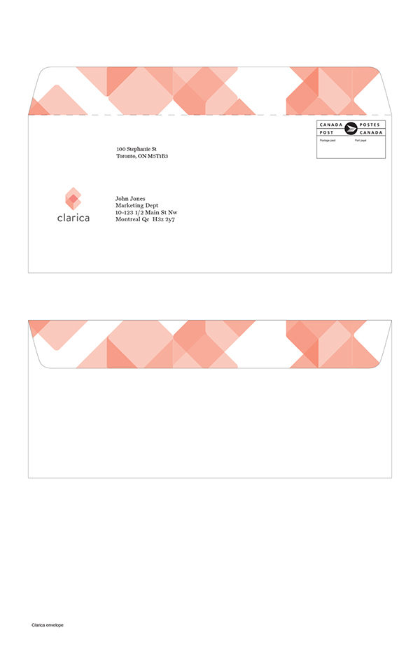 Clarica insurance app Website mobile orange opacity geometric logo identity