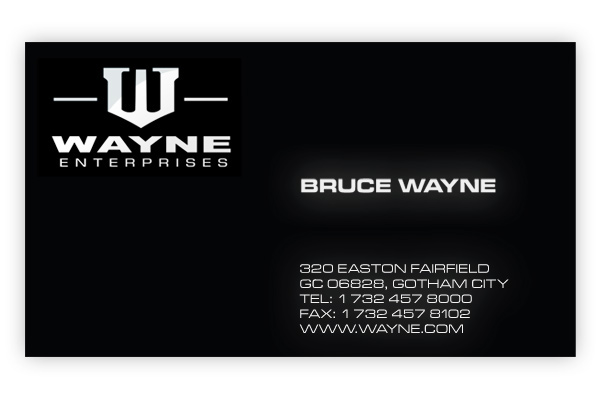 Business Cards Of Movie Characters On Behance