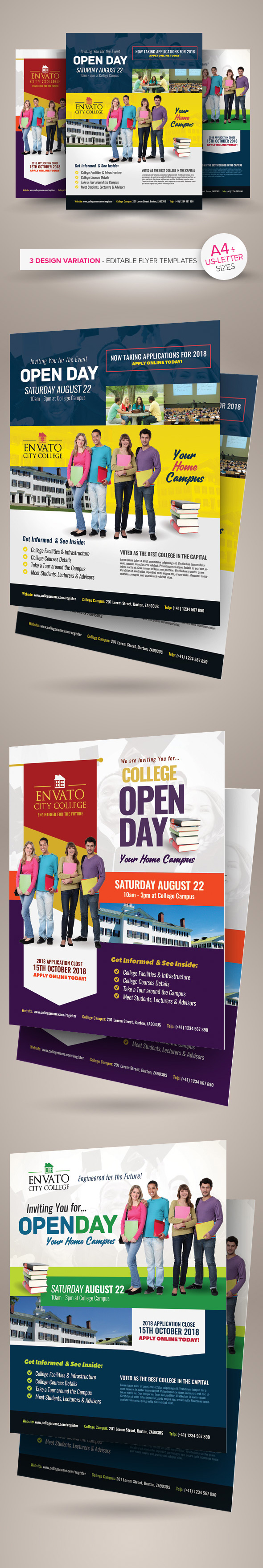 College Open Day Flyer Templates On Behance