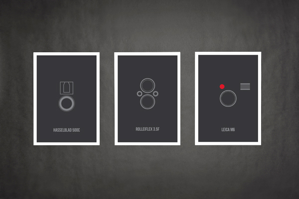 Vintage camera minimalist posters on behance for Camera minimal