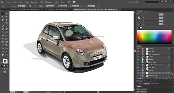 mod lisation d 39 une fiat 500 on wacom gallery. Black Bedroom Furniture Sets. Home Design Ideas