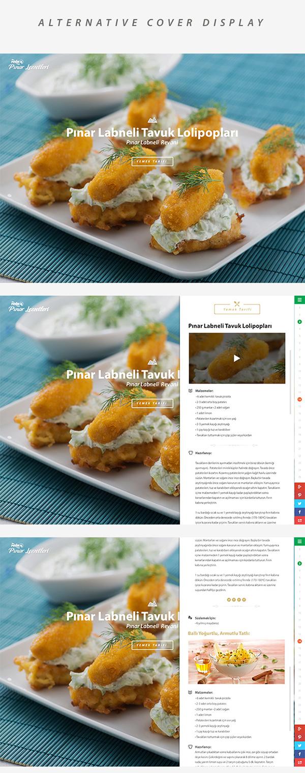 Food  delicious food recipes recipes Label menu Responsive clean flat flat design Icon full screen türkiye istanbul
