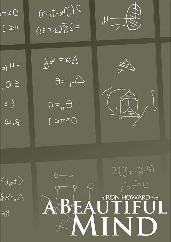 A Beautiful Mind 2001  Minimal Movie Poster by
