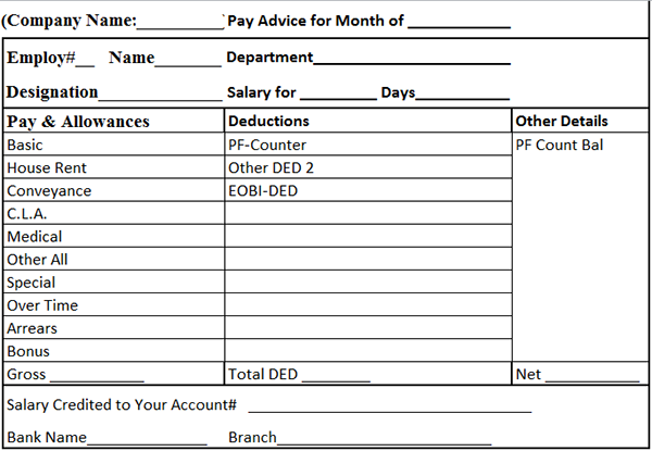 Doc683472 Salary Slip Format Download Free Download Salary – Download Salary Slip