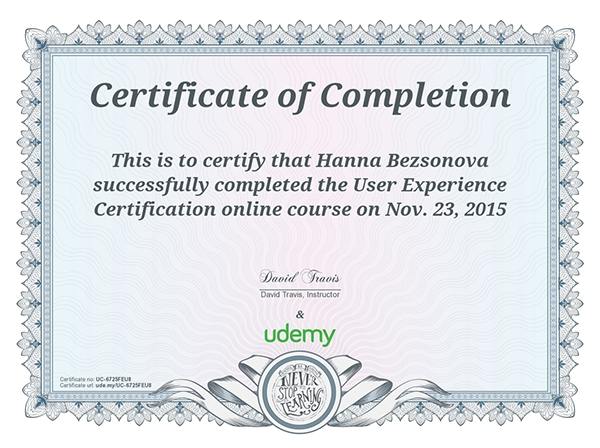 My UX Certificates (Udemy) on Wacom Gallery