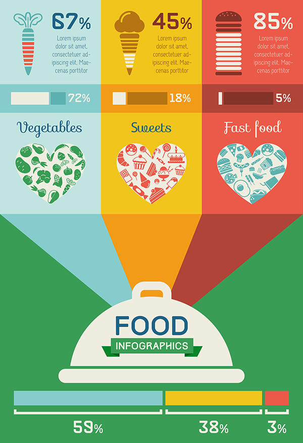 Food Infographics Templates Flat Design On Behance