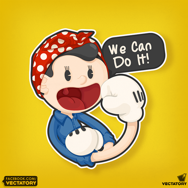"Rosie ""We Can do It"" on Behance"