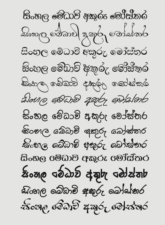 Download New Medavi Sinhala Font Pack - ElaKiri Community