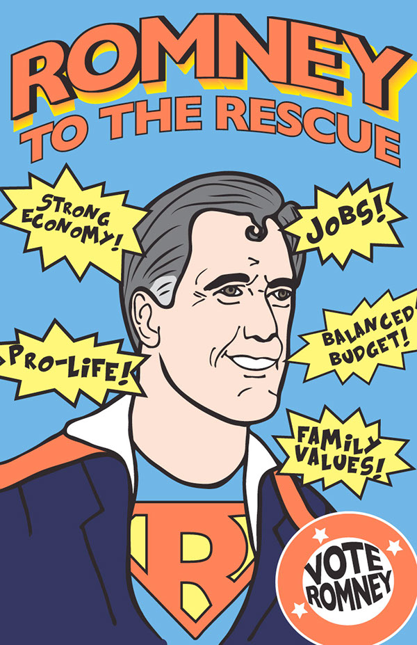 Republican Budget >> Propaganda Posters For Romney on Behance