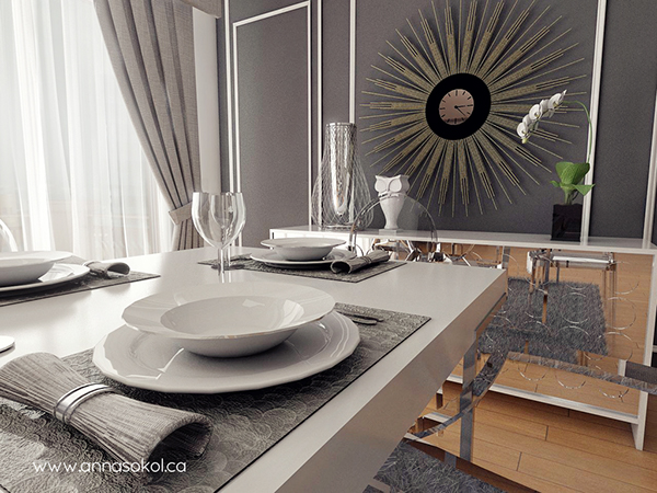 Dining Room Concept Design 48D Rendering On Behance Interesting Design For Dining Room Concept
