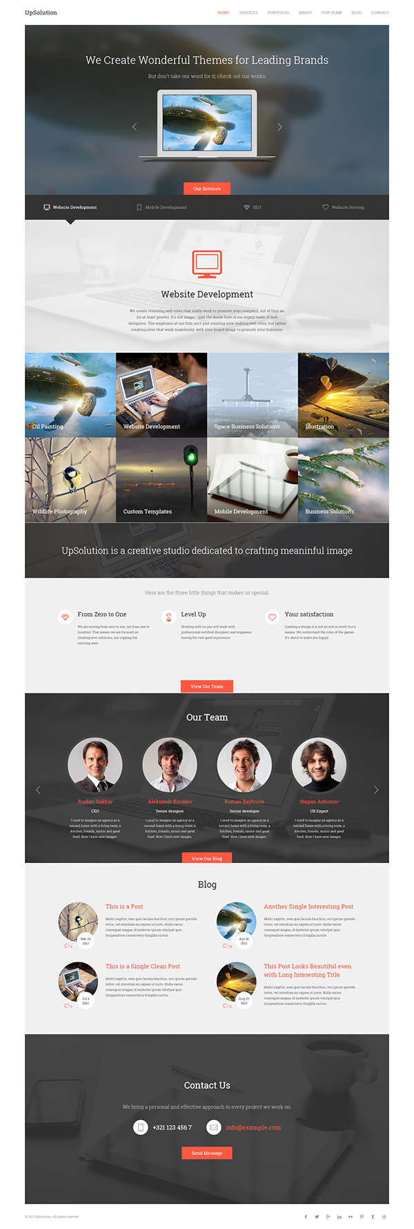 UpSolution - Marketing One Page HTML5 Template on Behance