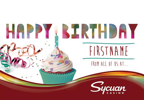 Birthday postcard casino
