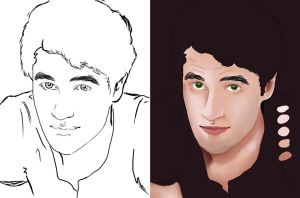 Digital Portrait Drawing Digital Portrait Darren Criss