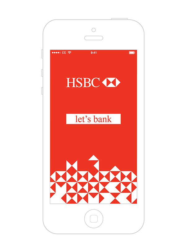 HSBC mobile banking app redesign  on Behance