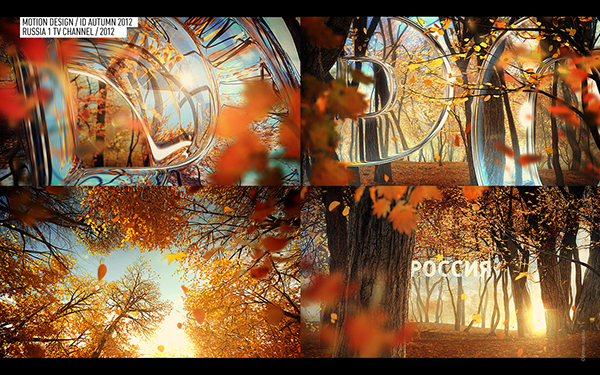 Russia 1 tv channel autumn id on Behance