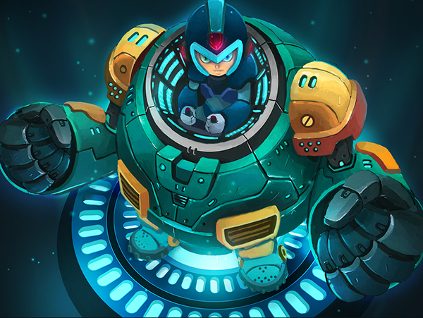 Megaman Tribute Project: Ride Armor by Ray Chan